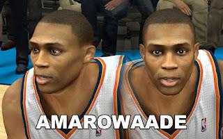NBA 2K13 Mods - OKC Russel Westbrook Cyberface Mod