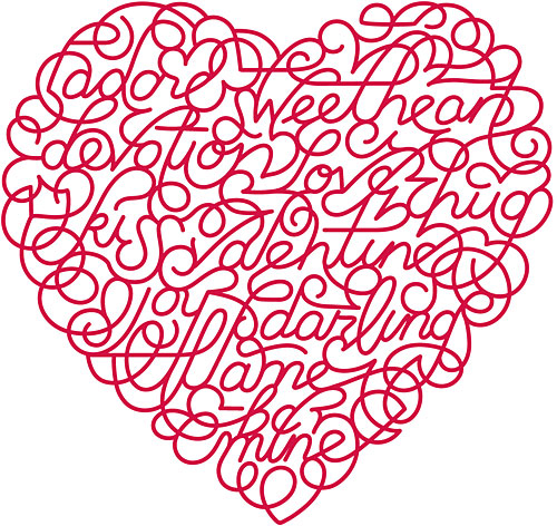 Valentine Heart with Words
