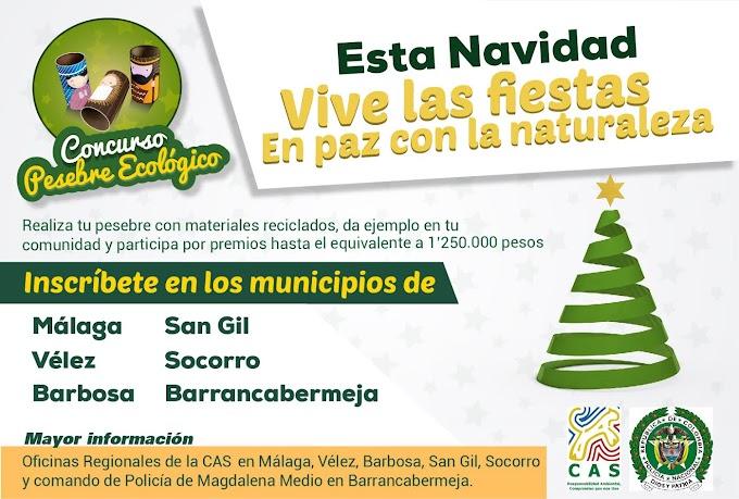 CAS y Policía Nacional lanzan concurso de pesebre ecológico en 5 provincias de Santander