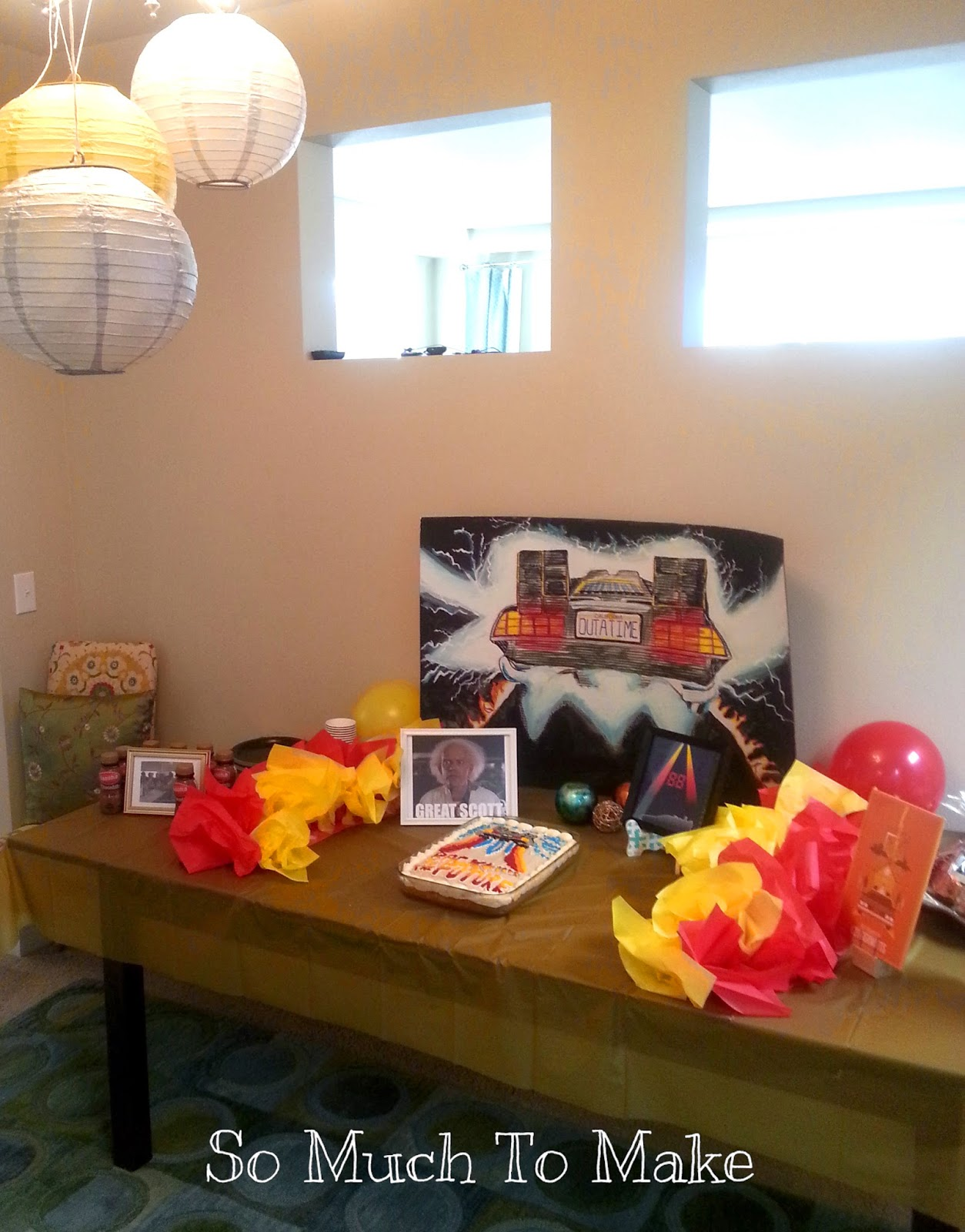 Back To The Future, Party, Kids, Games, Decorations, Cake, Food, Games, Favors