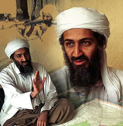 and osama in laden in. osama bin laden