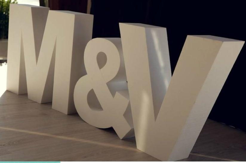 Letras grandes para bodas calinito for Letras gigantes para bodas baratas