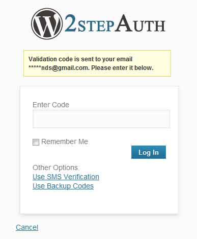 email WordPress step