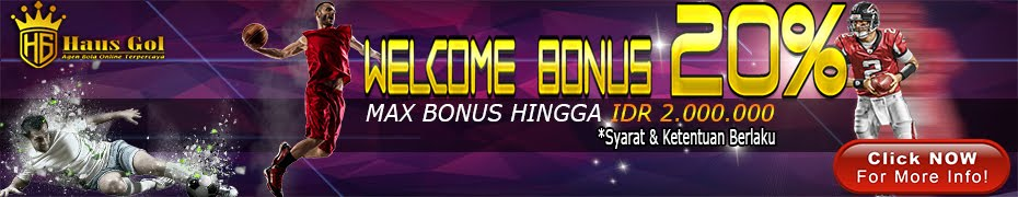 WELCOME BONUS 20%