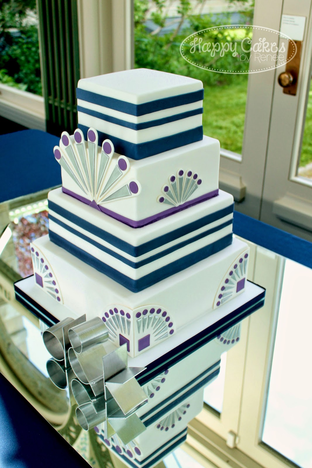 Happy Cakes Bakes: Great Gatsby/Art Deco themed Wedding Cake!