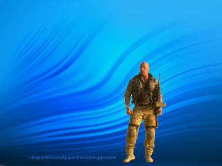 Desktop Wallpapers of Dwayne Johnson The Rock Desert outfit in Ripple Landscape wallpaper