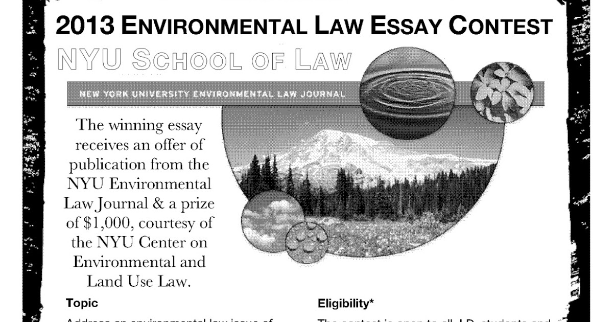 Environmental essay contest 2013