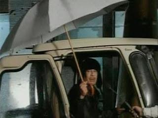 Muammar Gaddafi speaks on TV