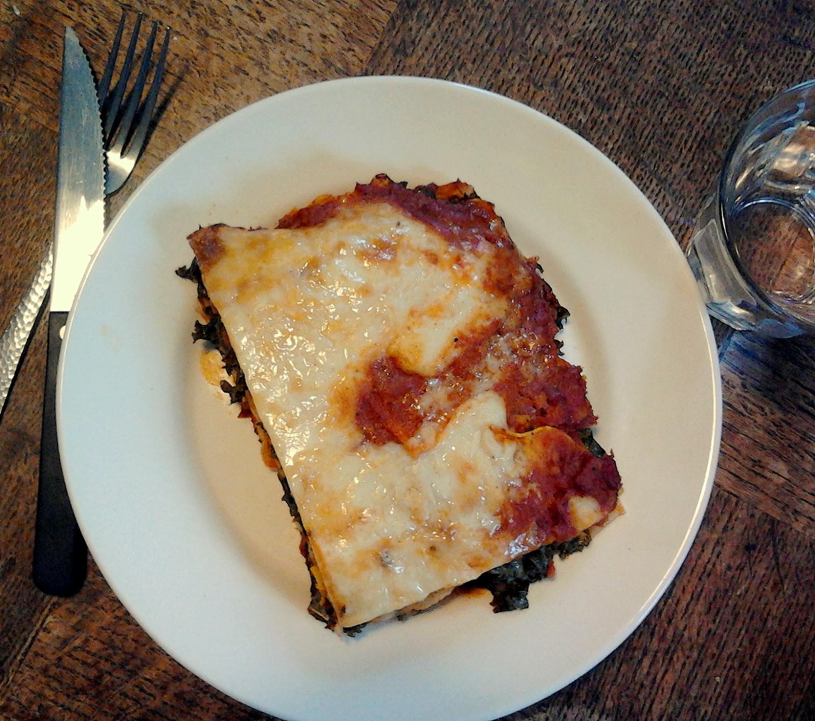 Lasagne met boerenkool en pompoen