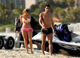 Radamel Falcao Garcia With His Girlfriend Lorelei Taron 2013