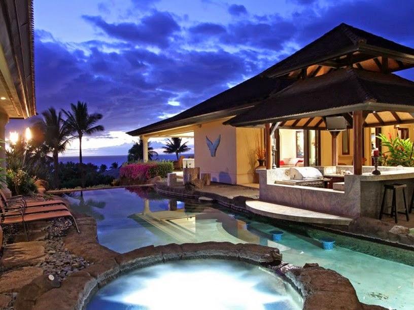 בית עם בריכה בהוואי