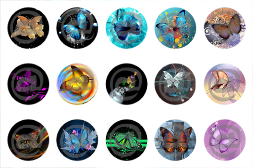 Unique bottle cap designs butterfly v1 bottle cap image for Cool bottle cap designs