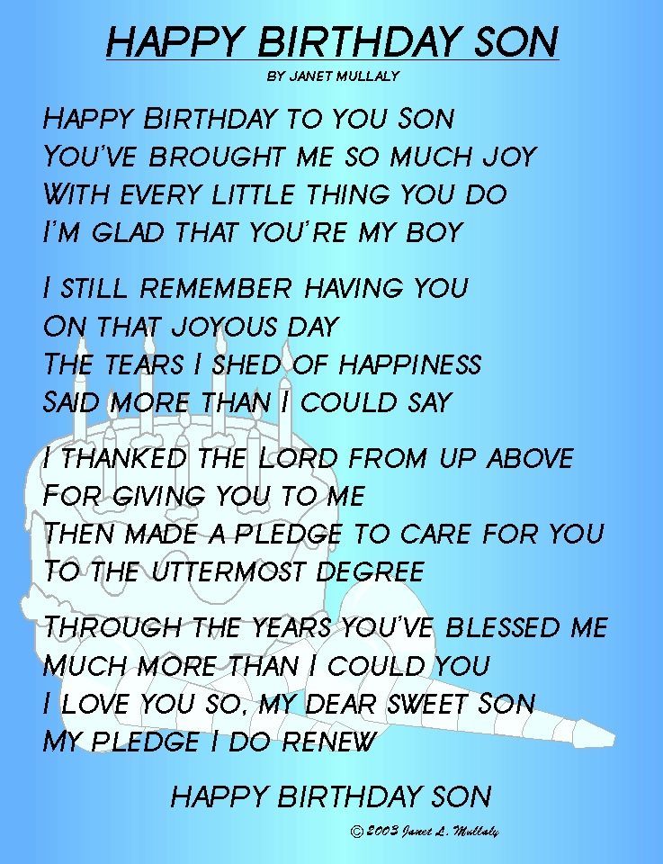 25th Birthday Quotes For Son QuotesGram