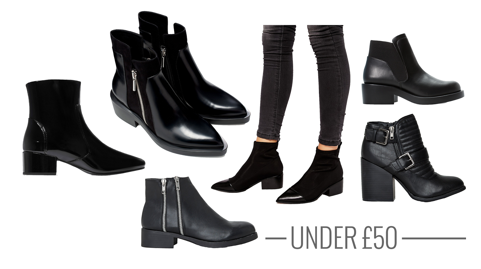 ankle boots under £50