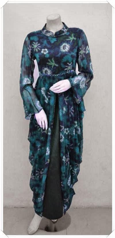 Update Model Baju Gamis Batik Modern Terbaru