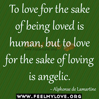 To love for the sake of being loved is human