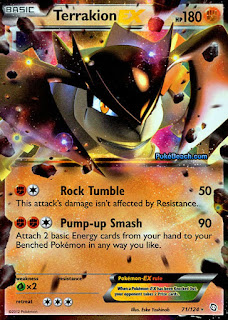 Terrakion EX Dragons Exalted Pokemon Card