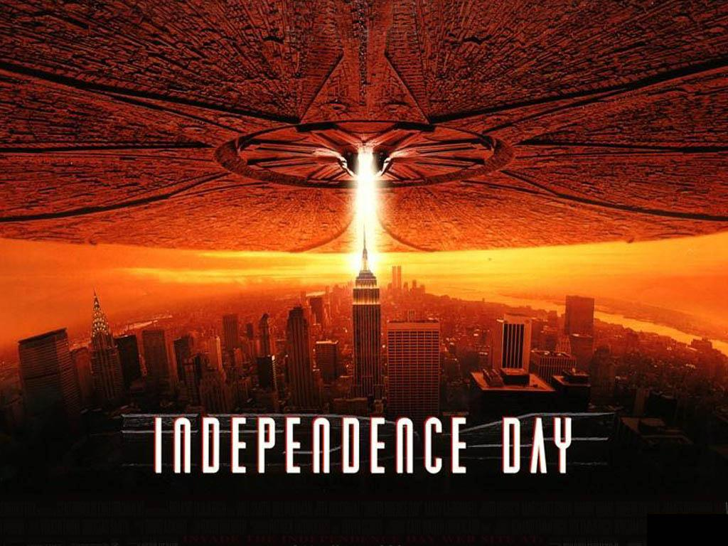 Poster for the 1996 alien blockbuster film Independence Day