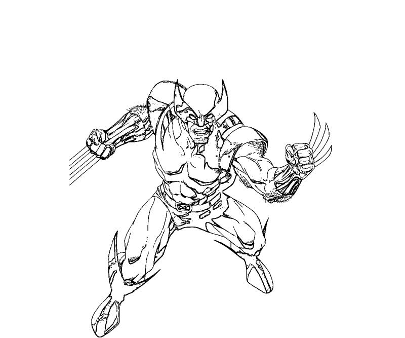#9 Wolverine Coloring Page