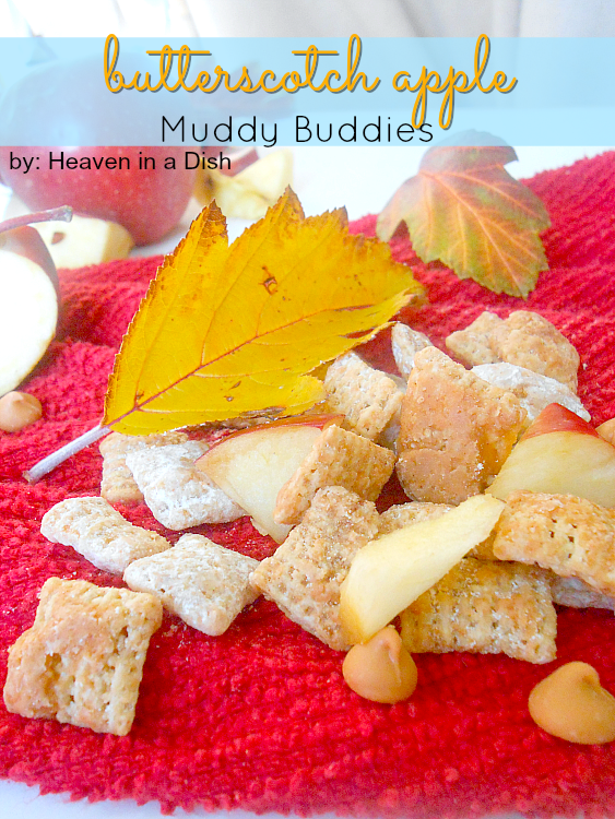 Butterscotch Apple Muddy Buddies -these are just like the classic party treat, only better! This recipe is super easy and crazy good!