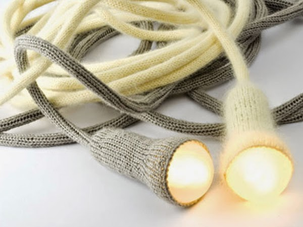 Wełniane lampy handmade