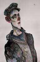 victor otero carbonell autorretrato con gorra