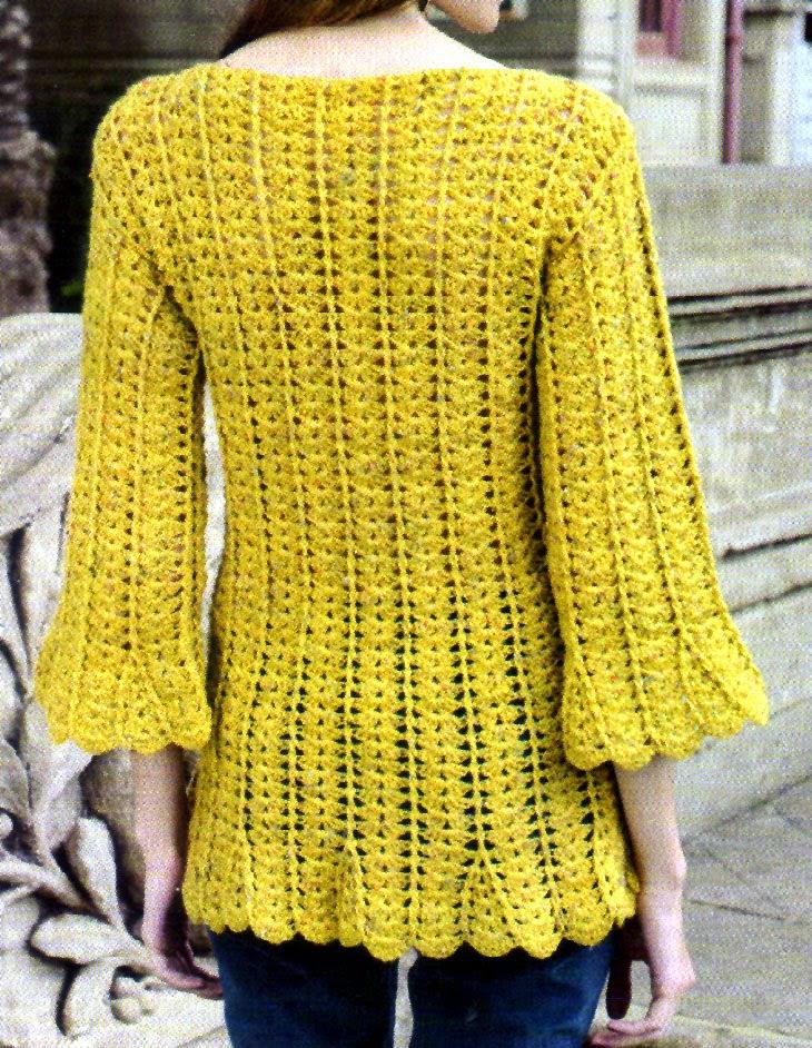pullover tejido en gajos (espalda)