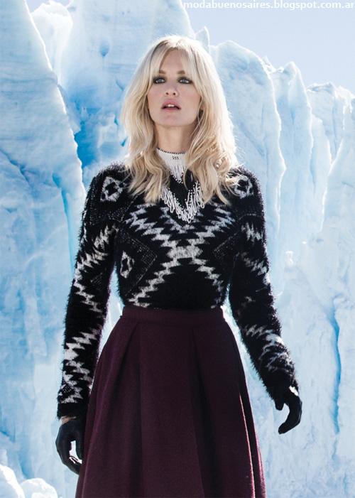 Sweaters de moda invierno 2014 Falabella.