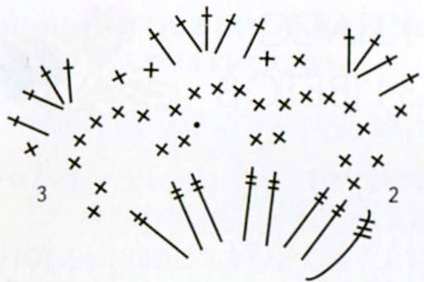 Комплект этнической бижутерии: колье и пояс, схема вязания