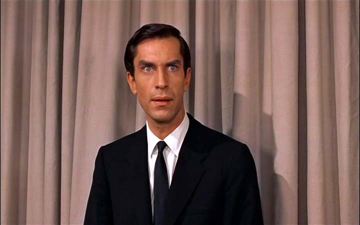 ... Martin Landau as James Mason's henchman Leonard in NORTH BY NORTHWEST.