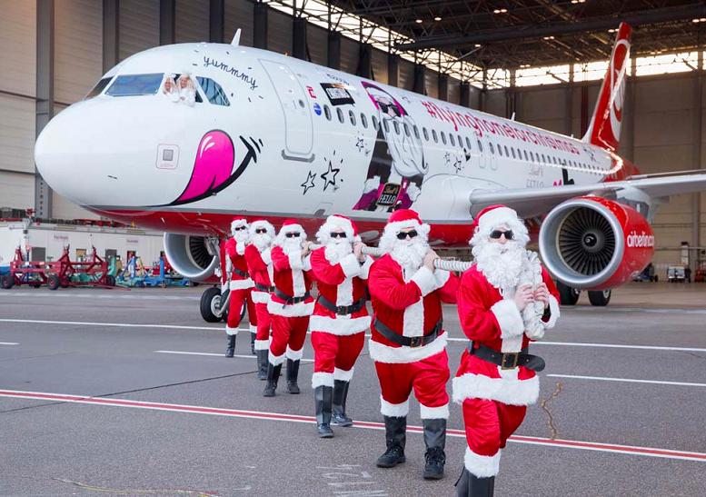 Air Berlin presenta su avión navideño