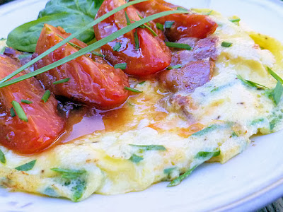 Bacon & Roasted Tomato Omelette