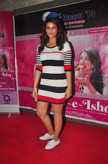 Parineeti Chopra Lovely Figure Hugging Dress at Daawat E Ishq Promotion at NM College Mumbai