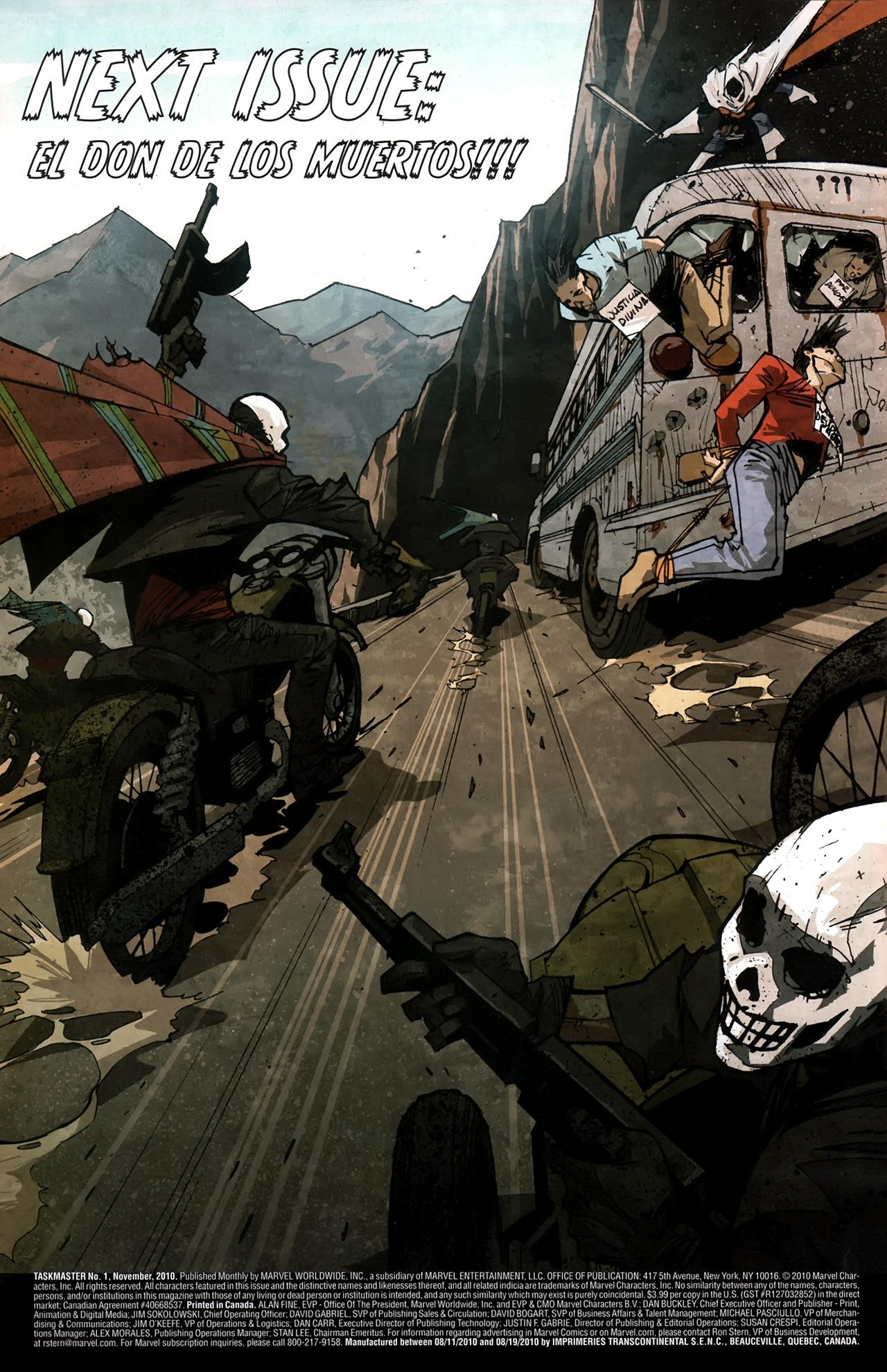 Read online Taskmaster (2010) comic -  Issue #1 - 31