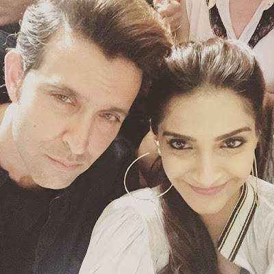 Hrithik and Sonam Kapoor take selfies on the sets of Dheere Dheere music video!