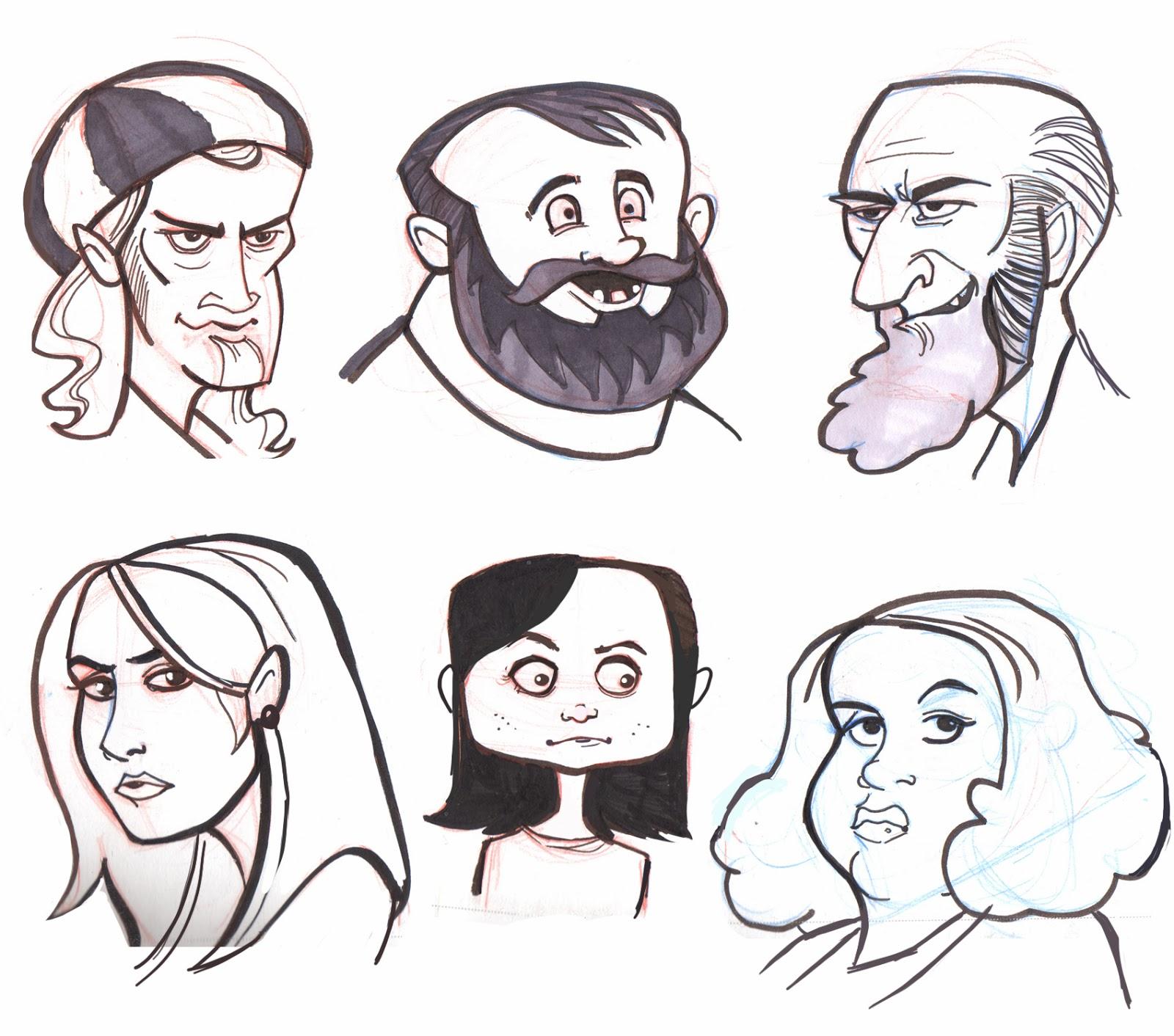Cartoon Characters Heads : Joe pearman art cartoon faces week