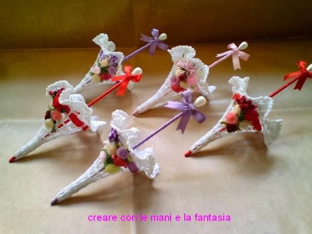 Top CREARE CON LE MANI E LA FANTASIA: Bomboniere ombrellini uncinetto  GI81