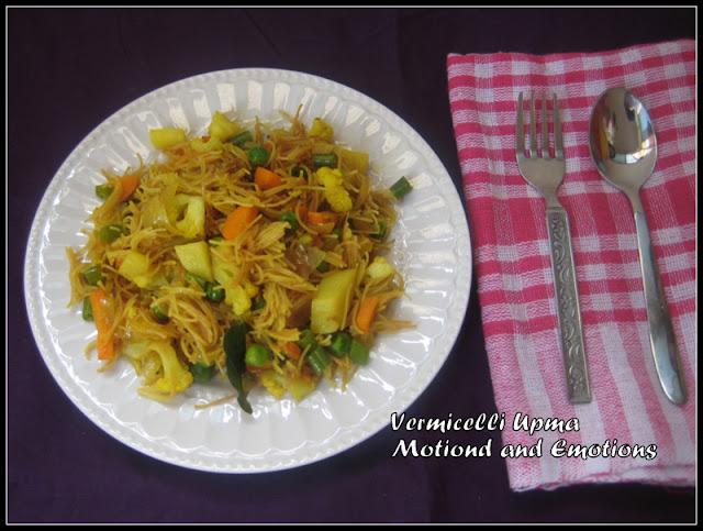Vermicelli Upma / Vegetable Vermicelli Upma