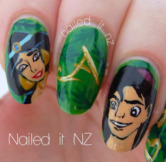 Aladdin Nail Art: Disney Nail Art #1
