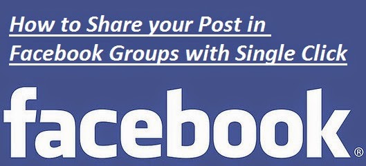 Share on Facebook Groups