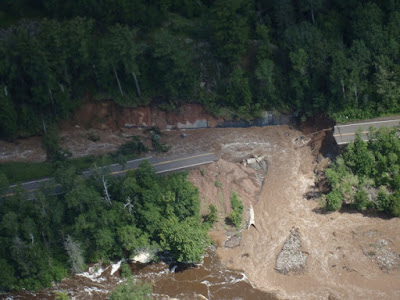 Highway 210, Jay Cooke East Park entrance, from Incorporating Extreme Weather Risks in Asset Management Planning