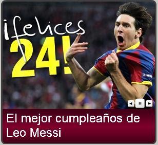 Messi cumple 24 años