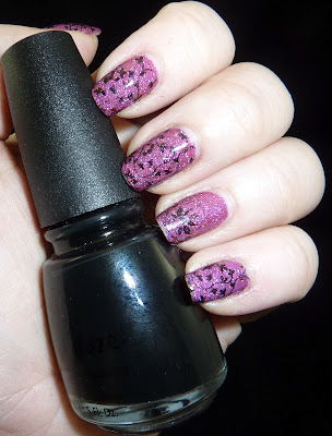 China Glaze Liquid Leather over Girly Bits Razzle Dazzle