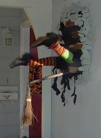 La casa de halloween decoraci n bruja estrellada en la pared - Adornos de halloween ...