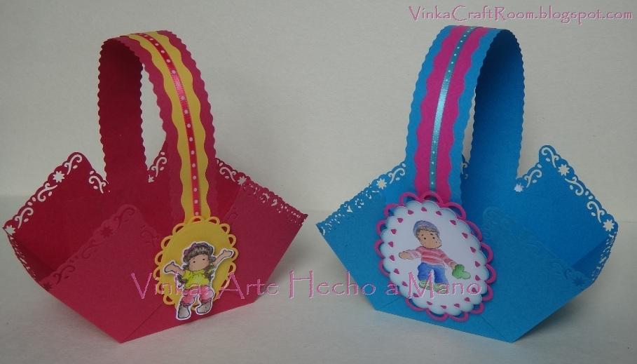 Vinka  Arte Hecho A Mano  2012_11  Souvenir  Canastas En Papel