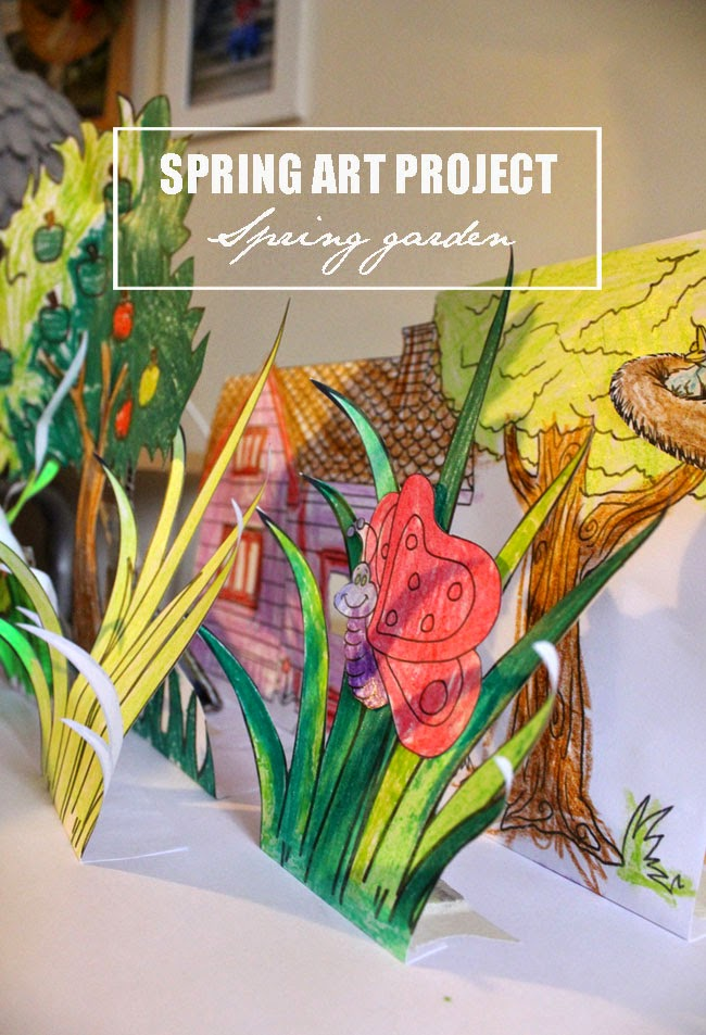 spring project, arts and crafts, todaymyway.com
