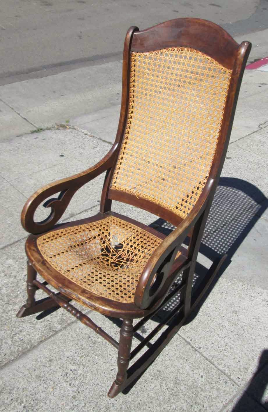 SOLD Antique Cane Rocking Chair - $20 - UHURU FURNITURE & COLLECTIBLES: SOLD Antique Cane Rocking Chair - $20