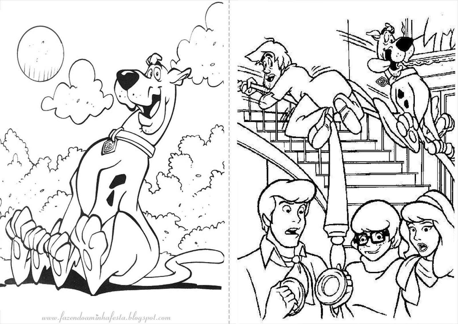 Desenho Para Colorir Do Scooby Doo