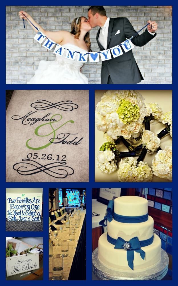 Navy Blue and Green Wedding