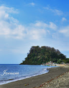 Beach with the cliff, Situbondo, East Java, Indonesia